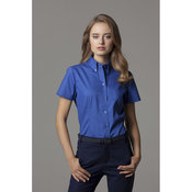 Women's corporate Oxford blouse short sleeved