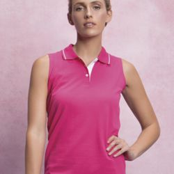 Ladies Proactive Sleeveless Polo Thumbnail