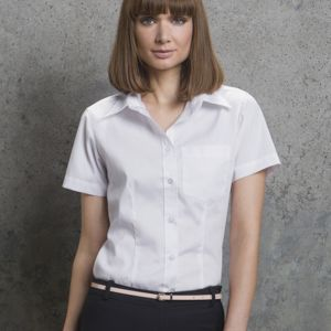 Ladies' Short Sleeve Corporate Pocket Oxford Shirt Thumbnail