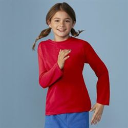 Gildan performance youth long sleeve t-shirt Thumbnail
