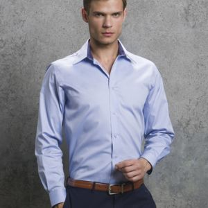 Men's Long Sleeve Contrast Premium Oxford Shirt Thumbnail