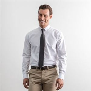 Modern long sleeve Oxford shirt Thumbnail