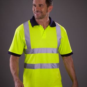 Yoko Hi-Vis Short Sleeve Polo Shirt Thumbnail