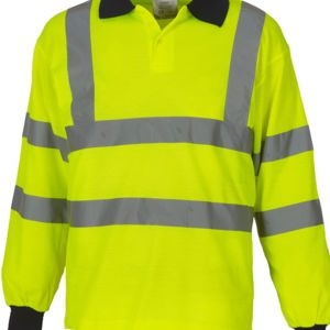 Hi-Vis Long Sleeve Polo Shirt Thumbnail