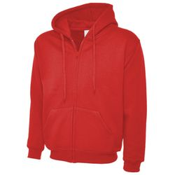 Adults Classic Full Zip Hooded Sweatshirt Thumbnail